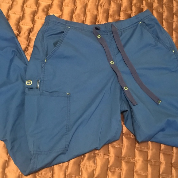 Wonderwink Medical Scrub Wonder Flex Teal Cargo Pants Sz XS-XXL NWT